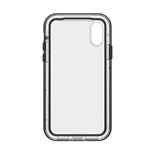 LifeProof Next - Funda Anti caídas y Anti Polvo para iPhone XS, Negro y Transparente