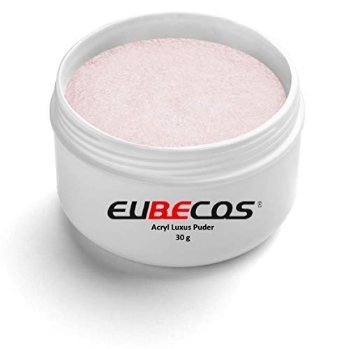 Nagel Rosa Pulver (EuBeCos Acryl Luxus Puder - 30 g - 02 Rosé in STUDIO QUALITÄT - MADE IN GERMANY!)