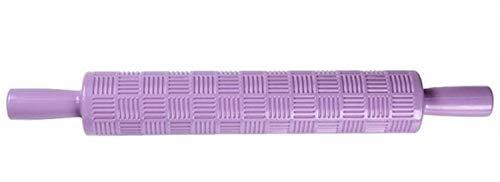 Evrylon mattarello con decorazioni forme righe quadrate mattarello decorativo per biscotti in plastica per cake design visto in tv