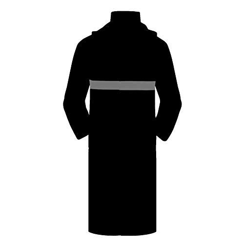 Regenjacke für wasserdichte Jacken Langer Regenmantel Poncho Siamese Windbreaker Security Patrol Station Post Wasserdicht Wasserdicht Reflektierende Sicherheits Regenmantel für Outdoor-Aktivitäten Security-windbreaker