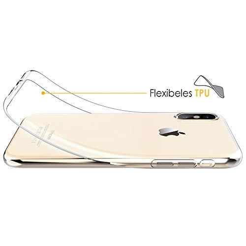 Beetop iPhone Pro 11 (5.8) Hülle Schutzhülle Ultradünn Handyhülle Transparent Weiche Silikon TPU Rückschale Case Cover für Apple iPhone XI 5.8inch - Durchsichtig