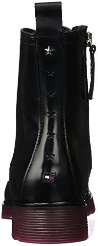 Tommy Hilfiger L1285otta 3a, Bottes Rangers Femme Noir (Black)