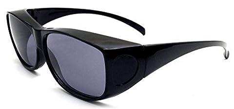 Überzieh-Sonnenbrille Unisex UV380 für Brillenträger Fit-Over Überbrille (Leichtem Polycarbonat-rahmen)