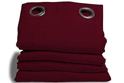 Rideaux 350 Cm - Moondream Rideau Phonique Rouge - Grenat, en