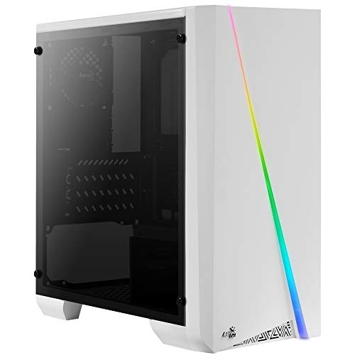 Aerocool Cylon Mini, Caja PC Micro ATX Blanca, RGB 13, Ventana, Ventilador 8cm