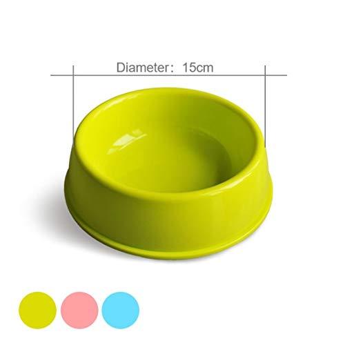 ststoff-Gummi-Hundeschüssel Outfit Portable Travel Bowl Macaron Dog Feeding Shovel Bowl kleine Mudium Dog Pet Accessoires ()