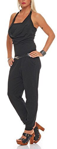 malito Jumpsuit élégant avec ceinture Romper Body Catsuit Party Salopette 8966 Femme Taille Unique noir