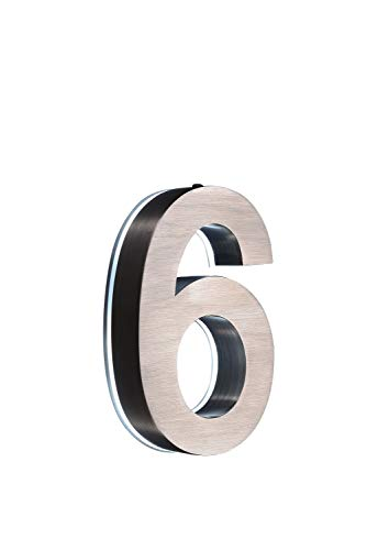 Hausnummer im 3D-Effekt