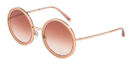 Dolce & Gabbana Damen-Sonnenbrille 0DG2211, Gold / Transparente Pink, 53