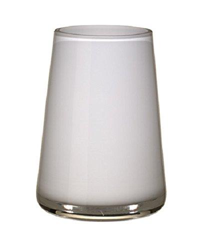 257-0962 Numa Mini Vase arctic breeze, Glas, weiß, 12 x 9 x 6 cm (Kleine Weiße Vase)