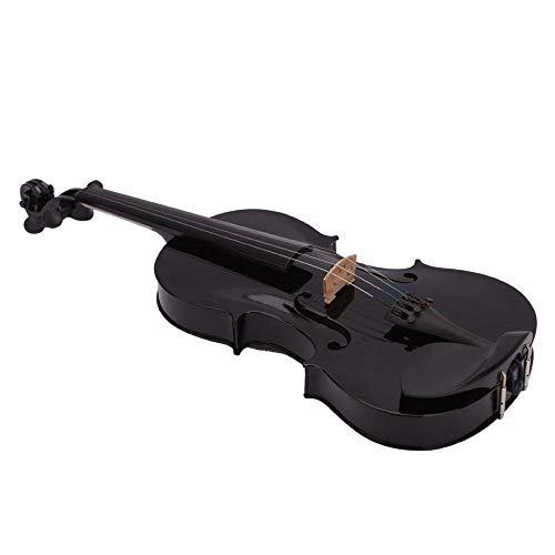 SODIAL (R) 4.4 Vollgroesse Akustische Geige mit Case Bogen Rosin - schwarz