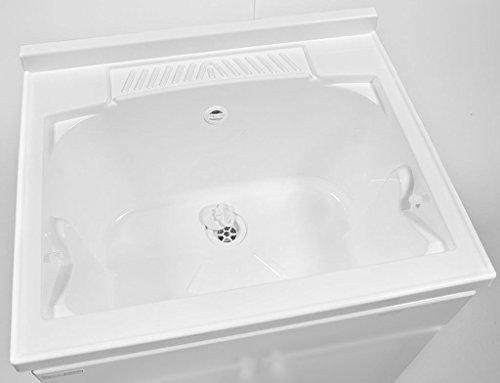 Yellowshop mobile lavatoio lavapanni lavanderia e bagno a due ante in resina pvc da esterno ed - Resina bagno prezzo ...
