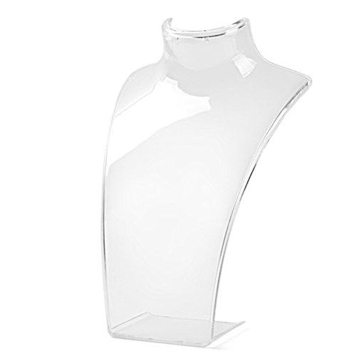 Display08 - manichino espositore per collana e lega, colore: transparent, cod. 8118748