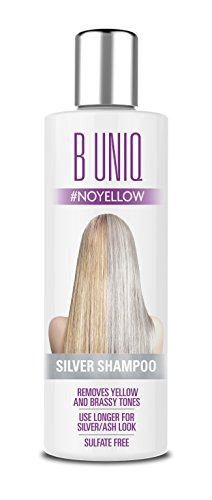 Purple Shampoo by B Uniq: Blue Toning Shampoo for Silver and Violet Tones - No Yellow: Hair Toner to Revitalise Blonde, Bleached & Highlighted Hair – Sulphate-Free (250ml)