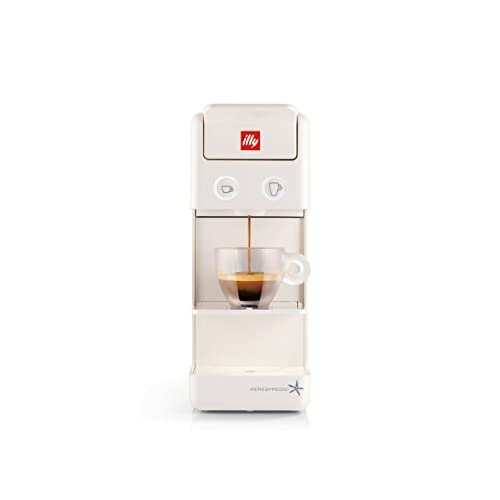 31lfJQWfY8L. SS500  - illy Coffee Maker Machine Y3.2, Espresso Capsules Coffee Machine, Compact Design, White