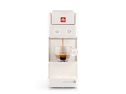 Francis Francis by illy 60291 Y3.2 iperespresso Coffee Capsule Machine, 850 W, White with illy Iperespresso Decaffeinated Roasted 21 Espresso Capsules, 141g (Pack of 2, Total 42 Capsules)