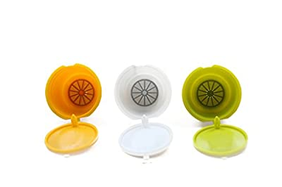 RECAPS Reusable Coffee Capsules Refillable Pods Compatible with Nescafe Dolce Gusto Brewers Colors