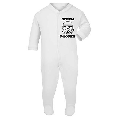 Original Stormtrooper Storm Pooper Toddler Baby Grow with ()