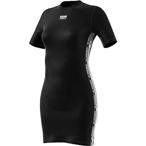 adidas Damen Tee T-Shirt,schwarz, - Adidas Kleid Schwarz