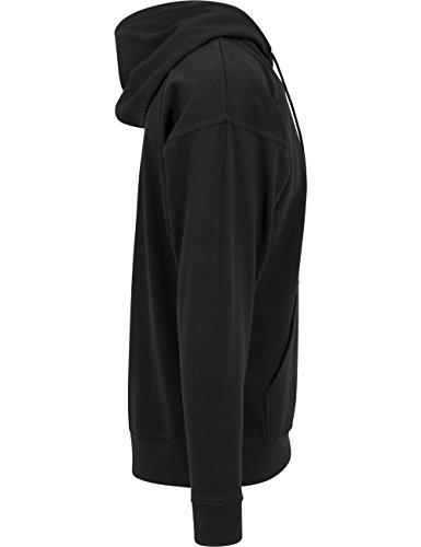 Urban Classics Herren Kapuzenpullover Oversized Sweat Zip Hoody Schwarz (Black 7)