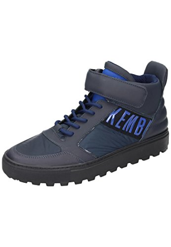 Bikkembergs Track-Er 766 Mid Shoe M Leather/Fabric, Baskets Hautes Homme Bleu