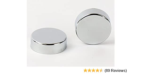 Two Chrome Cover Cap for Towel Rail Radiator for blanking plug and bleeding valve