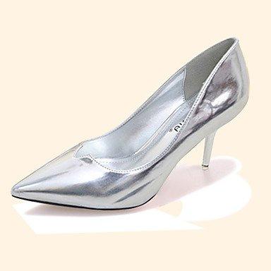 Moda Donna Sandali Sexy donna caduta tacchi Comfort PU Casual Stiletto Heel altri nero / viola / argento / grigio chiaro / Fucsia Altri Silver
