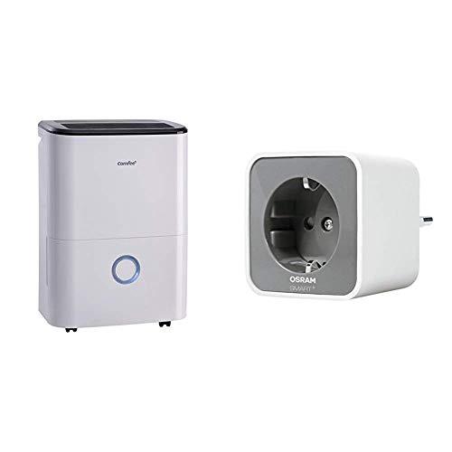 Comfee Luftentfeuchter (170ca. m3/h Luftleistung, 20L in 24h, Raumgröße ca. 100m³), weiß, MDDF-20DEN3 & Osram Smart+ Plug ZigBee schaltbare Steckdose (für die Lichtsteuerung in Ihrem Smart Home)