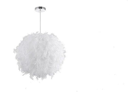 GBT Feder Kronleuchter Romantik Nordic Art Schlafzimmer Einfache Moderne Kronleuchter Kreative Persönlichkeit Raum Hochzeit Studie Lampe ( Weiß ) (Home Kostüme Einfach)