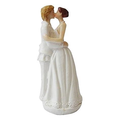 Lanlan kaukasischen Tender Moment Figur 15cm Romantische Gay Lesbian Hochzeit Tortenaufsatz