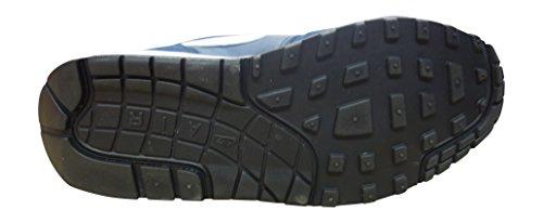Chaussures Nike AIR MAX 1 GS 555766410 Bleu - Midnight Navy White Black