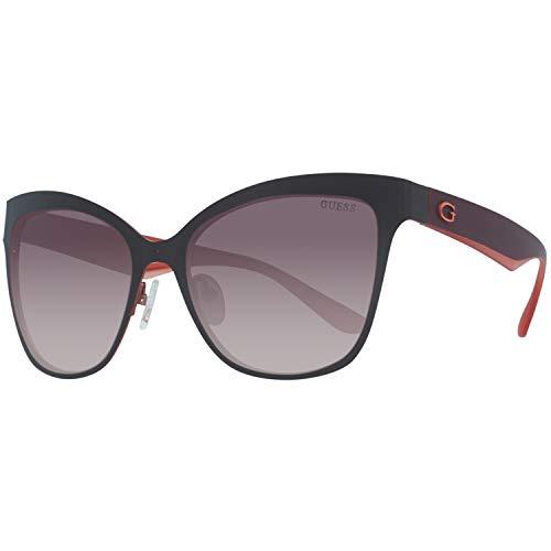 Guess Damen GU7465-5750F Sonnenbrille, Grau (Gunmetal), 57