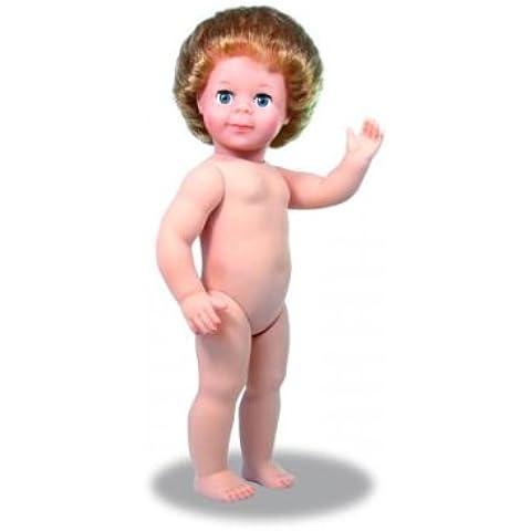 Petitcollin 40cm piernas rectas Jean-Michel desnuda muñeca con pelo (rubia)