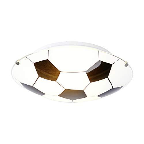 Lampenwelt Fußball Deckenleuchte \'Fußball\' dimmbar (Modern) in Weiß aus Glas u.a. für Kinderzimmer (1 flammig, E27, A++)   Fußballdesign, Kinderlampe, Fußballlampe Kinder-Deckenleuchte, Deckenleuchte