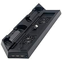 PS4 Vertikaler Standkühler Lüfter mit Dual Ladestation und LED Ladeanzeige #81065 -