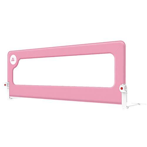 Barrière de lit Cloison De Lit Bébé Enfant Lit Garde-Corps Anti-Chute De Bébé Universel, Hauteur 72cm, 1 Côté, 1.5m / 1.8m / 2m, Couleur en Option (Couleur : Pink, Taille : 1.8m)
