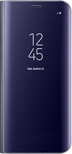 Samsung EF-ZG950CVEG Clear View Hülle (geeignet für Samsung S8), Violett