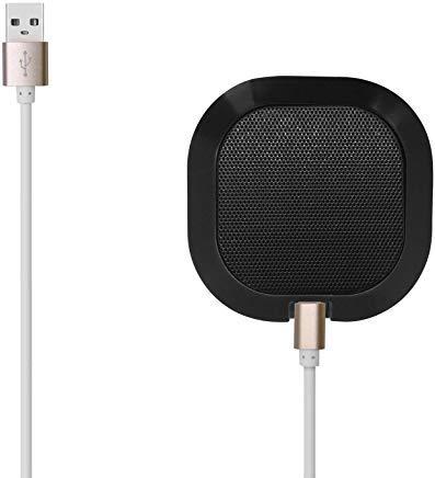 omnidirektionales USB-Mikrofon mit hoher Empfindlichkeit -42dB Plug Play tragbarer Tisch für Windows, Computer, Schreibtisch, Meetings Schwarz -