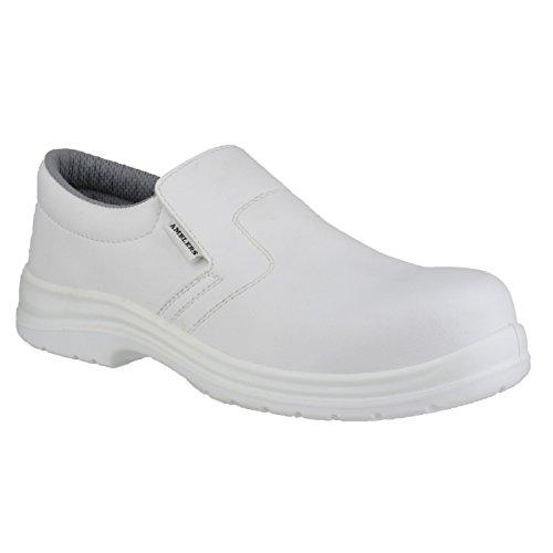 Amblers FS510 Unisex Sicherheitsschuhe Weiß