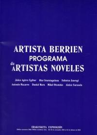 Artista Berrien Programa - Programa de Artistas Noveles por Aimar Arriola