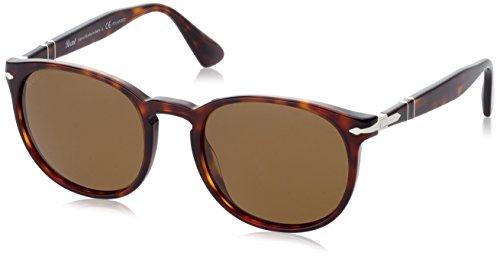 Persol Unisex-Erwachsene Sonnenbrille Polasiert 3157, Havana 24/57, 54