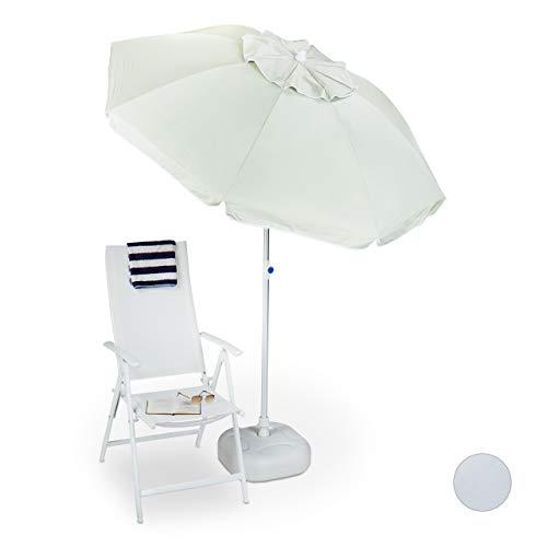 Relaxdays 10020940 Parasol Beige 200 x 200 x 235 cm