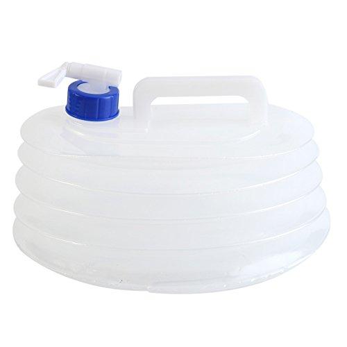 Botella de agua, Contenedor de agua plegable, sin BPA PE agua contenedor portátil Bolsa De Agua almacenamiento de agua al aire libre de picnic barbacoa Camping senderismo escalada Emergencias(5L)