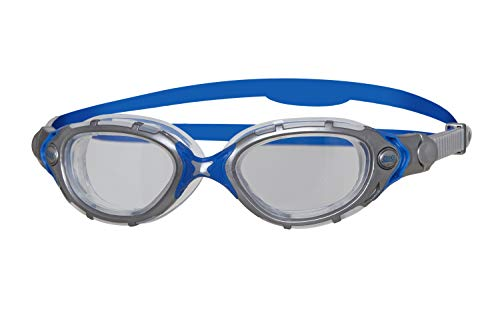 Zoggs Adult Predator Flex Schwimmbrille, Grey/Blue, One Size