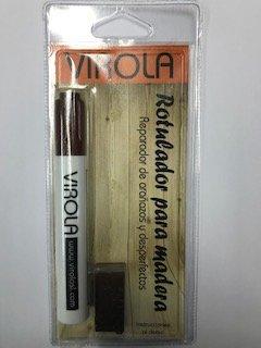 Rotulador + cera para madera reparador de arañazos y desperfectos (WENGUE)