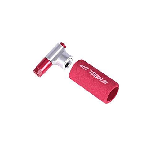 Morza Mini CO2 Pumpe Doppelventilkopf CO2-Fahrrad-Luftpumpe Mouth Rennräder Air Inflator Kopf Motorradreifen Pumpenventil