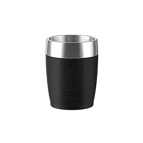 emsa Isolierbecher TRAVEL CUP, 0, 20 L., Manschette schwarz