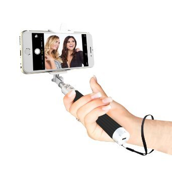 Selfie Stick Advance Extendable Bluetooth Monopod with Built-in Shutter & Adjustable Phone Holder for iPhone 7/7+ /Se/6s/6/6 Plus Samsung Galaxy S7/S6/Edge, Note 5/4, LG G5, Moto X/G & Android Phones
