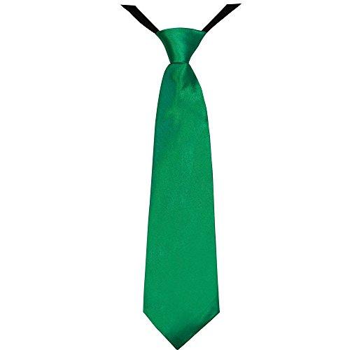 Soul-Cats® Jungen Krawatte 35 cm vorgebunden Seiden Look Hochzeit Kommunion Jugendweihe , Farbe:grün