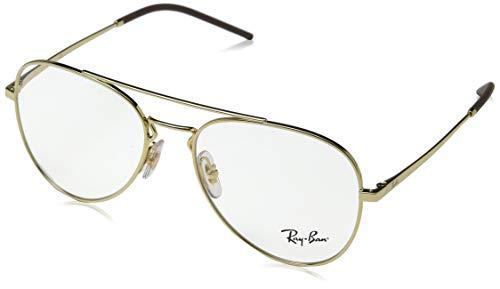 Ray-Ban Unisex-Erwachsene 0RX6413 Brillengestelle, Gold, 54